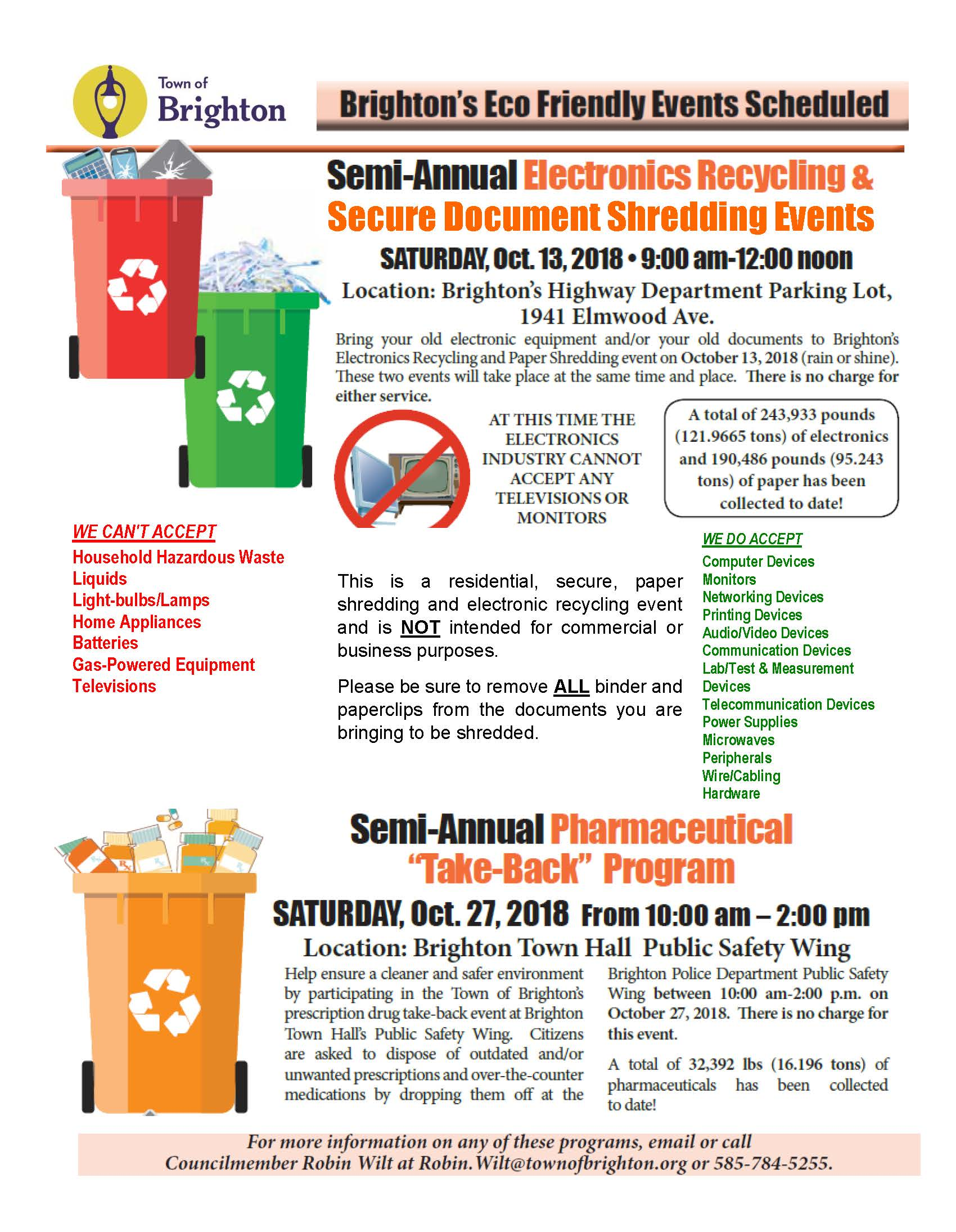Fall 2018 Recycling Collection Events