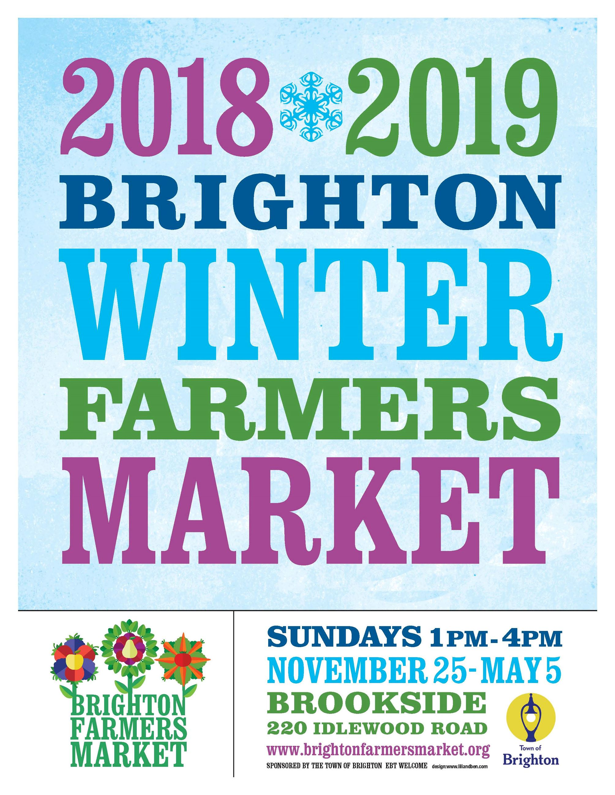 Brighton Winter Farm Mrkt 2018 poster