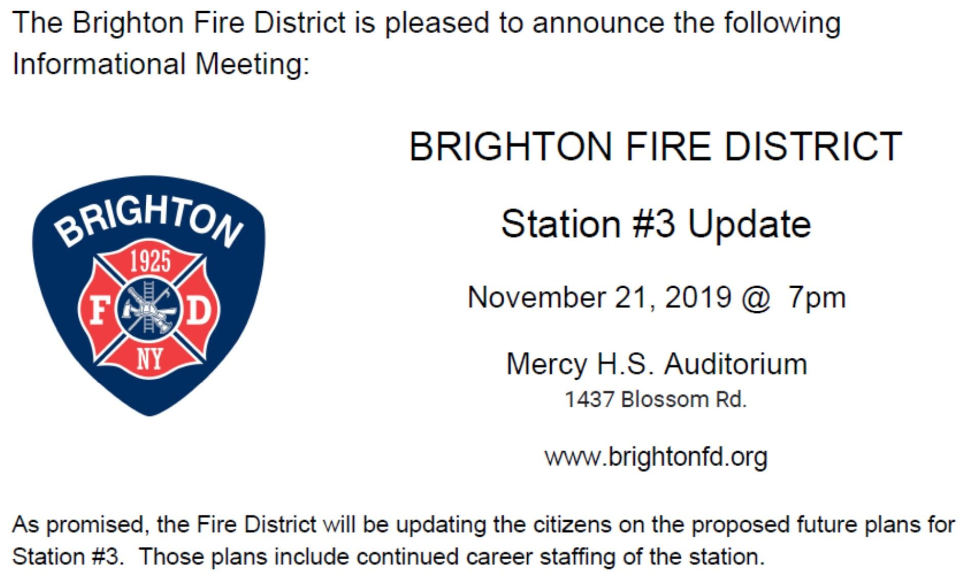 BFD Station 3 update posting 11-21-19