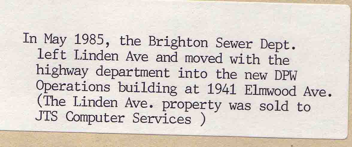 1985 Sewer Dept moved